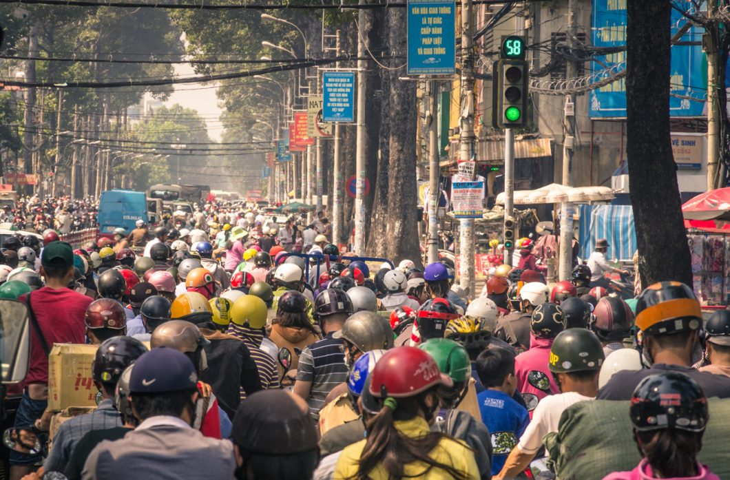 Hanoi`s continuous traffic