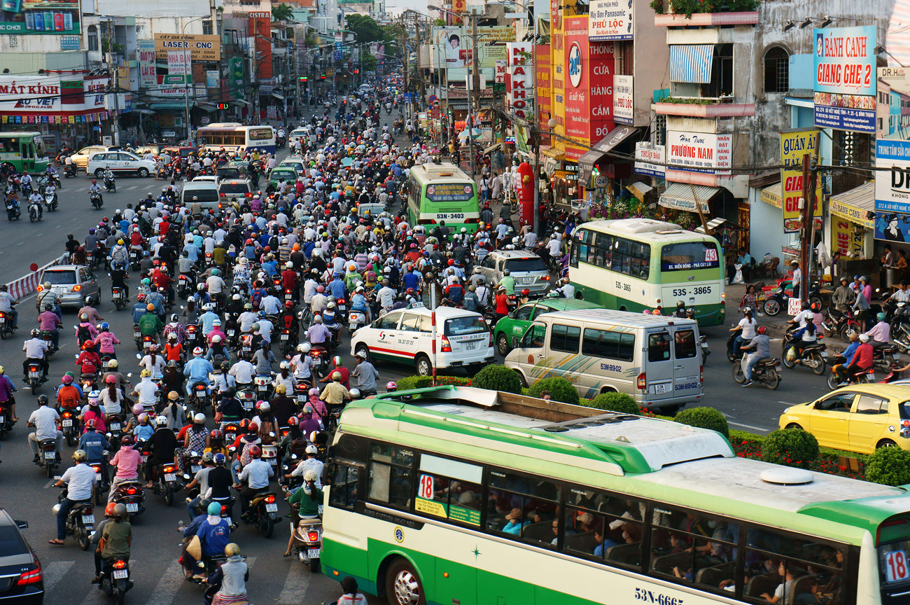 Busy roads of Ho Chi Minh