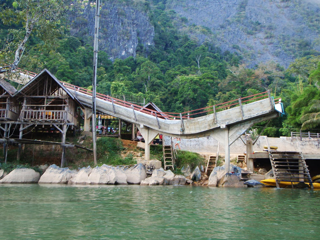 The Vang Vieng`s death slide