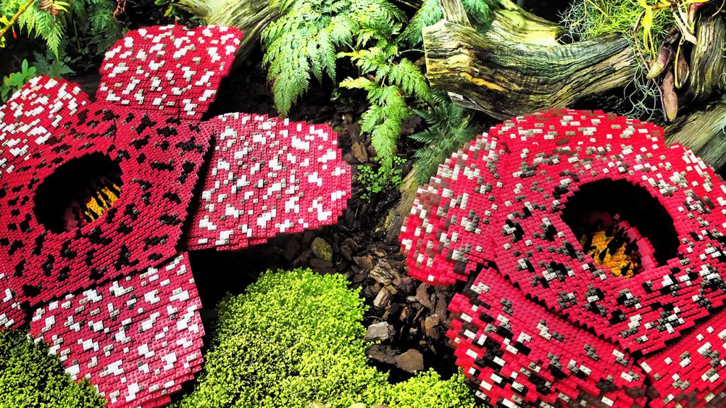 The Gardens by the Bay, LEGO flowers
