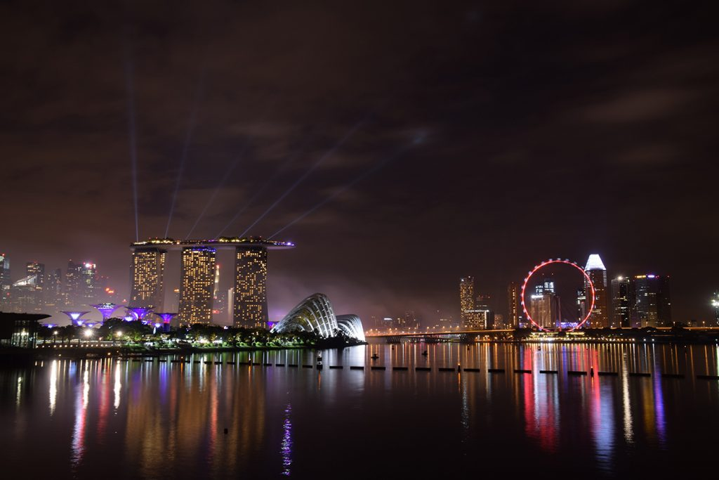 The Marina Bay Sands by night