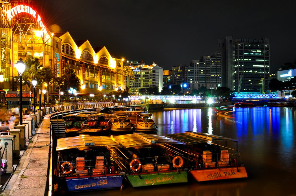 The Singapore River by night